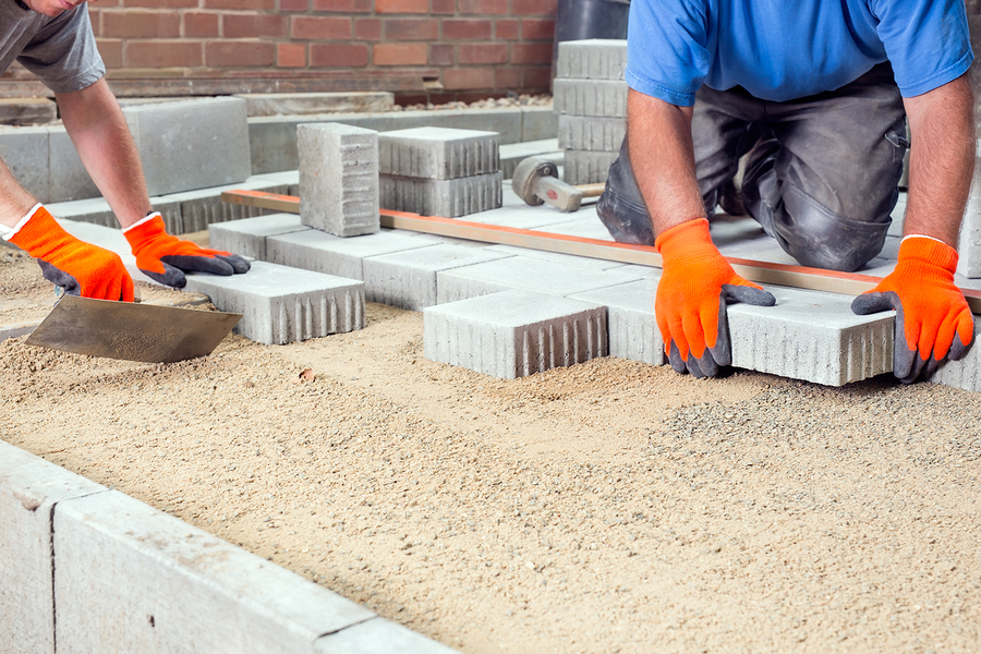concrete and masonry contractor during work