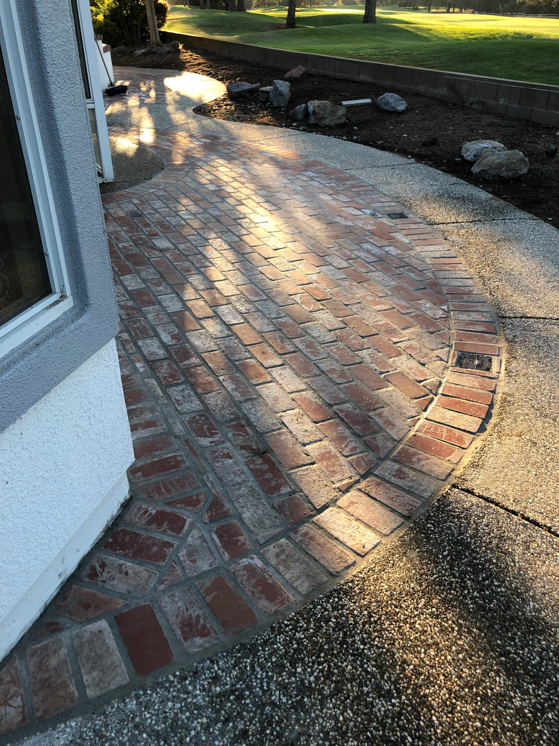 this image shows a brick masonry pleasanton project recently