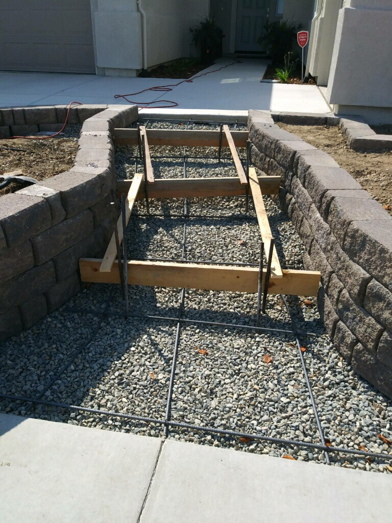 this picture shows pleasanton concrete masonry concrete steps and stoops on going