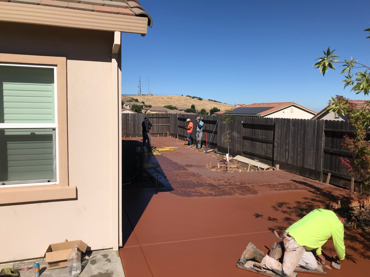 this image shows stained concrete patio in pleasanton