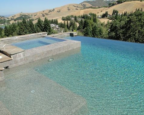 this image shows pleasanton pool deck