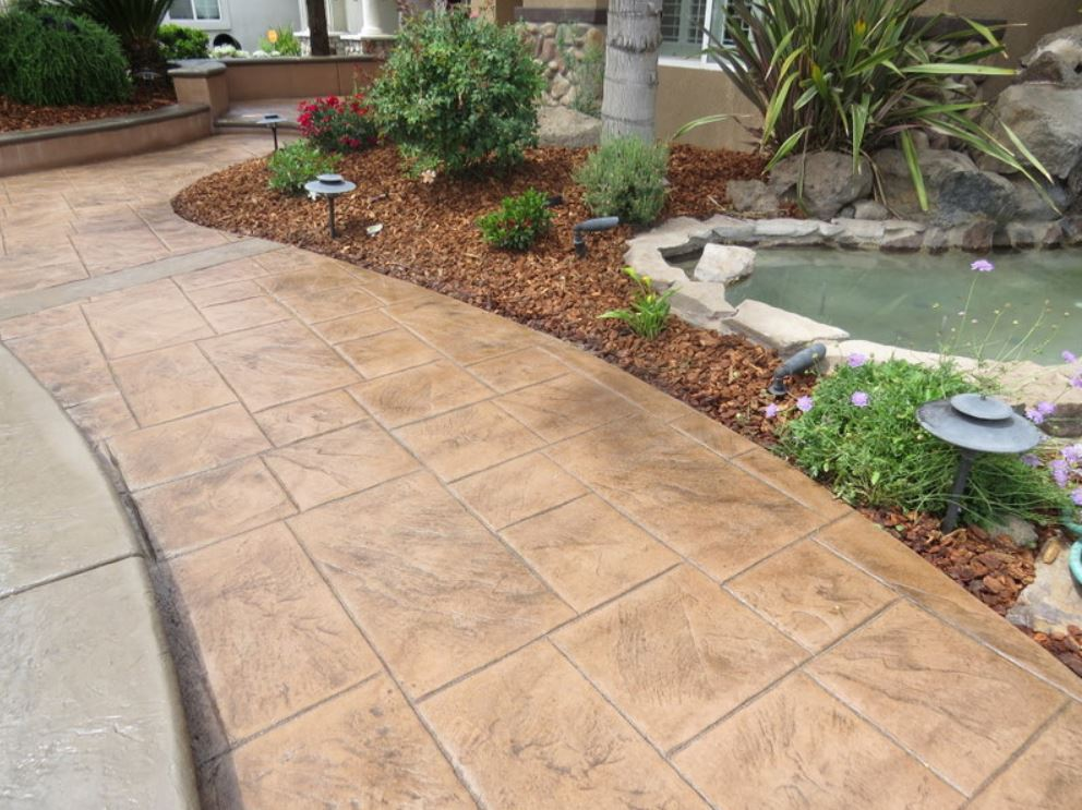 An image of finished concrete work in Pleasanton, CA.