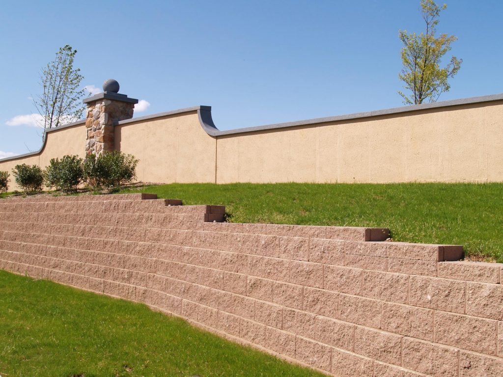 A picture of block wall in Pleasanton.