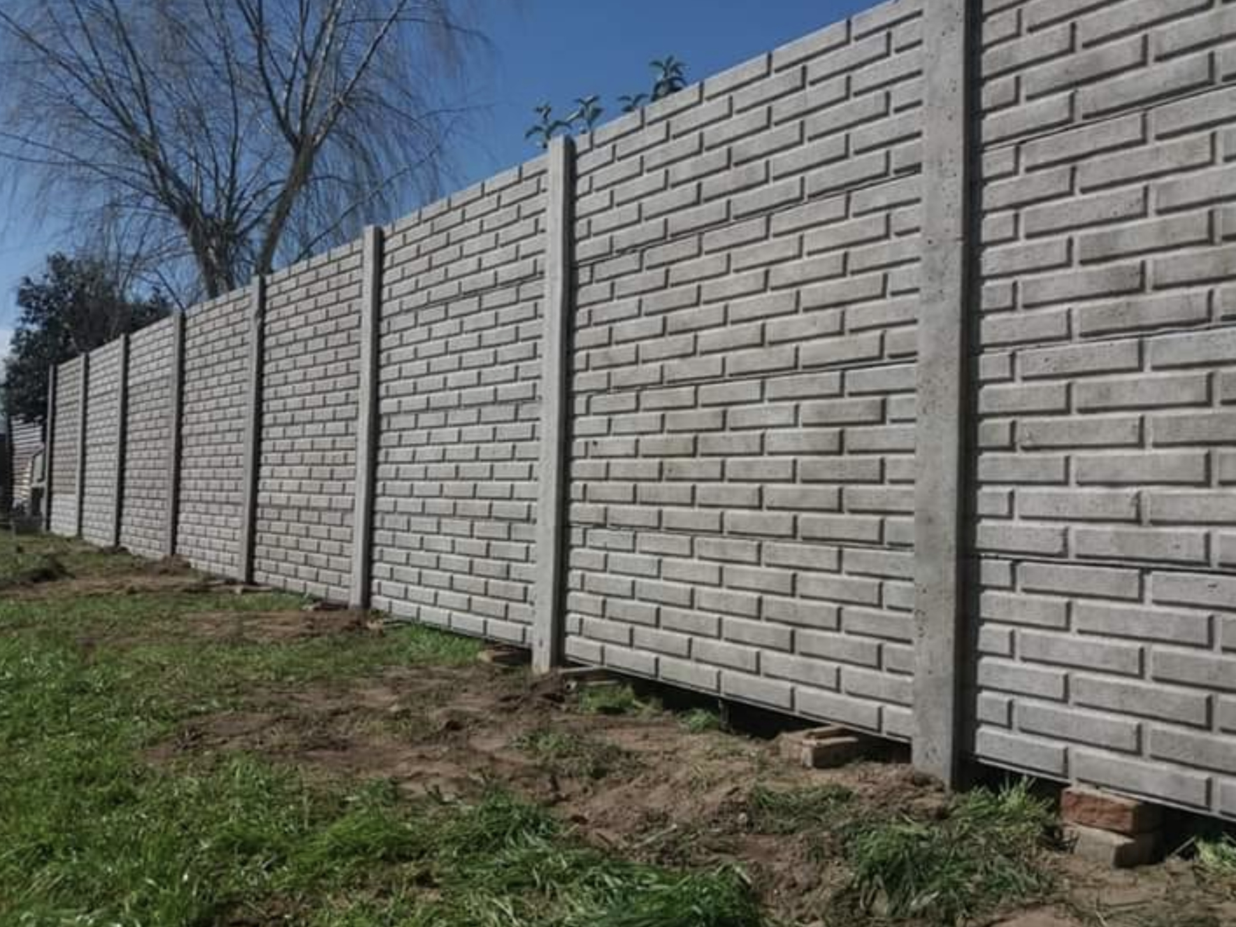 this is a image of block wall in Pleasanton, California