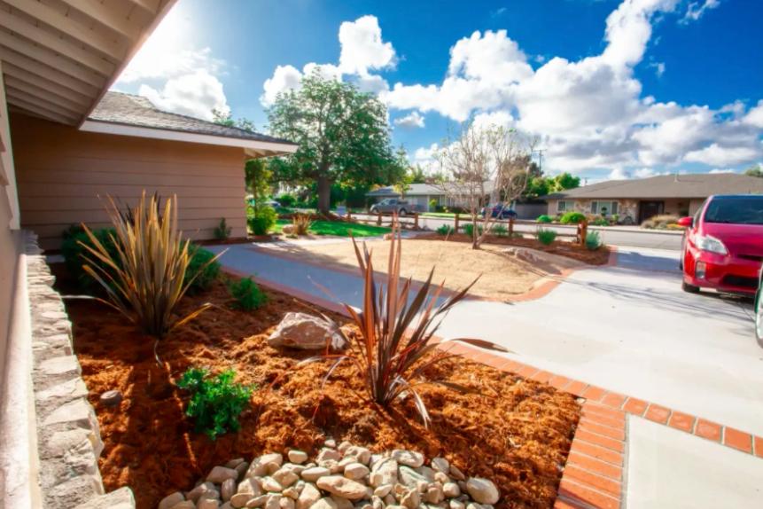 this image shows driveways in Pleasanton, California