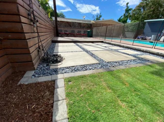 this image shows pool decks in Pleasanton, California