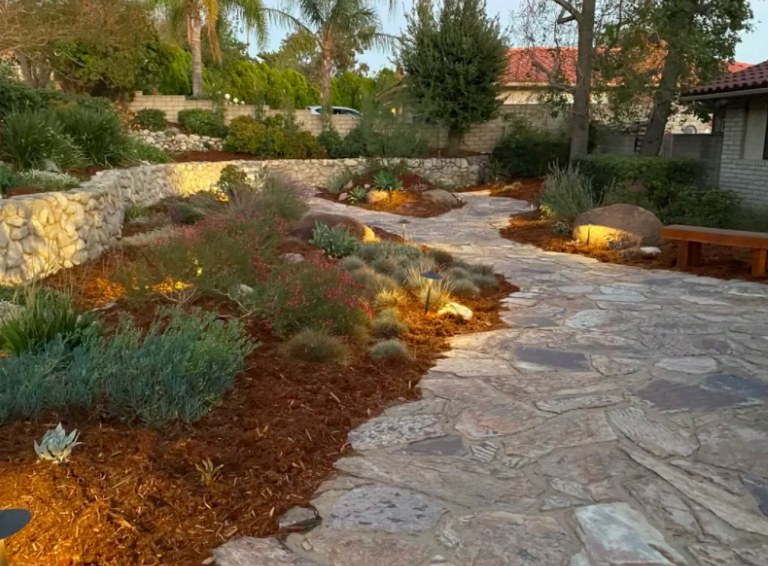 this image shows stone pavements in Pleasanton, California