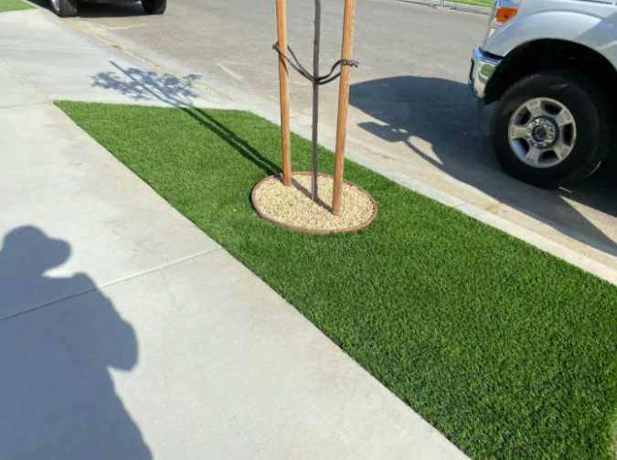 this image shows turf installation in Pleasanton, California